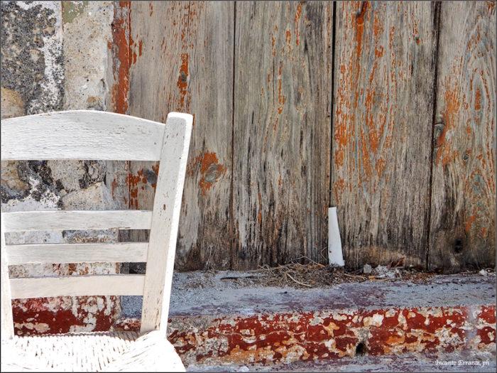 Santorini con sedia