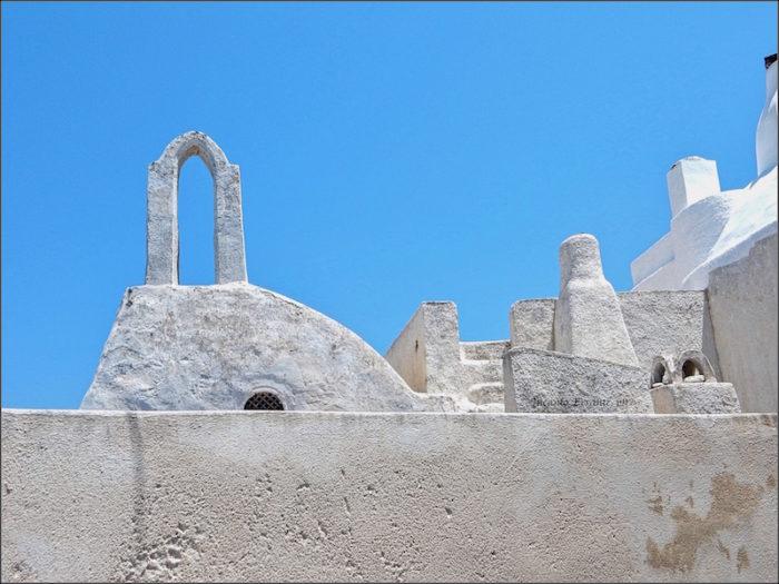 Santorini. Mura