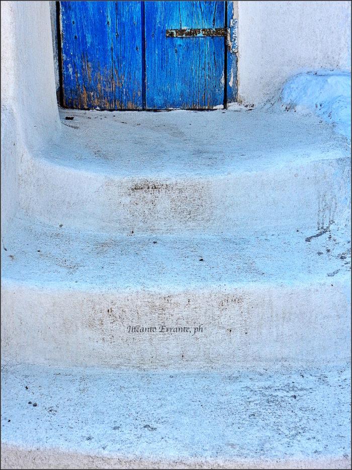 Santorini. porta, particolare