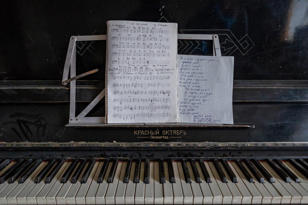 Il pianoforte di Pyramiden